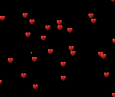 processing floating hearts