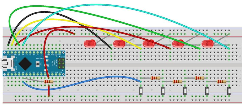 multiple switch singe pin of arduino