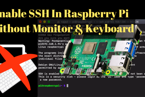 Enable SSH In Raspberry Pi Without Monitor & Keyboard