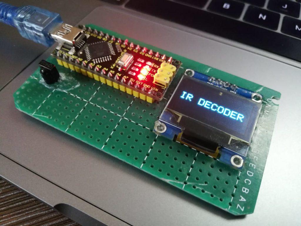 arduino ir oled decoder