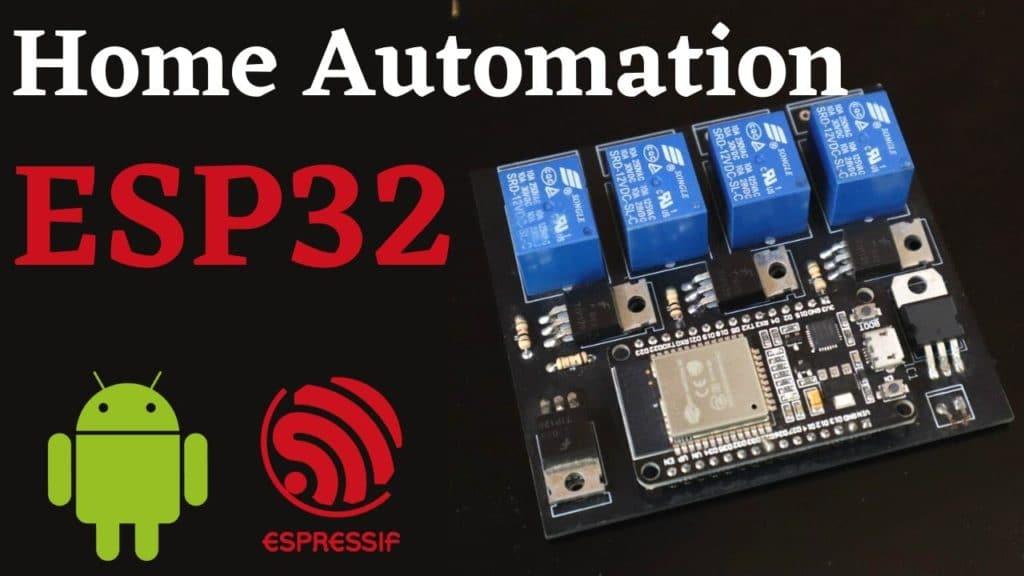esp32 home automation web server
