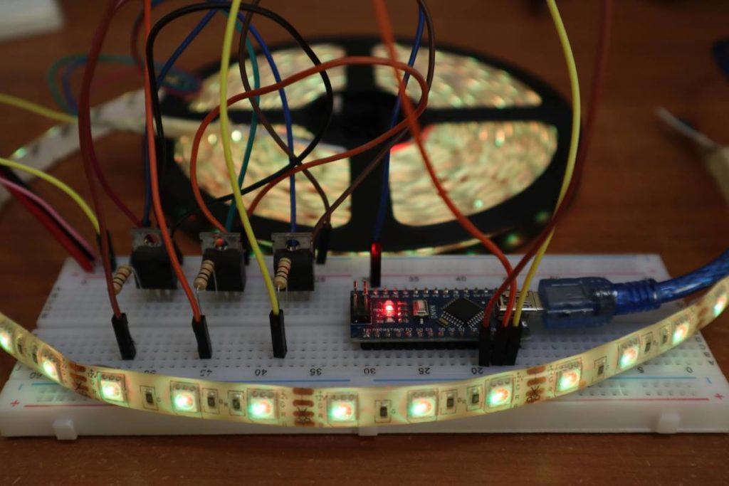 12v rgb led with arduino