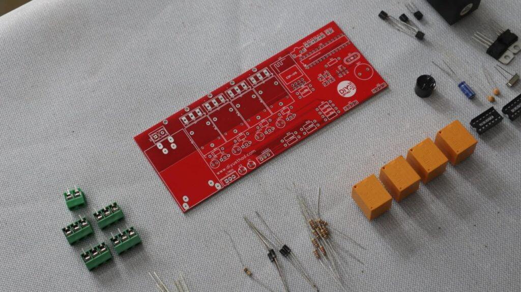 Home Automation PCB using esp8266 and atmega328
