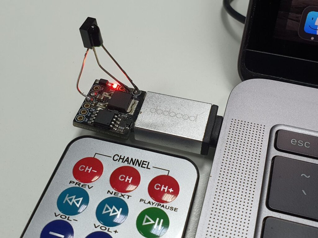 digispark IR PC media control remote with receiver