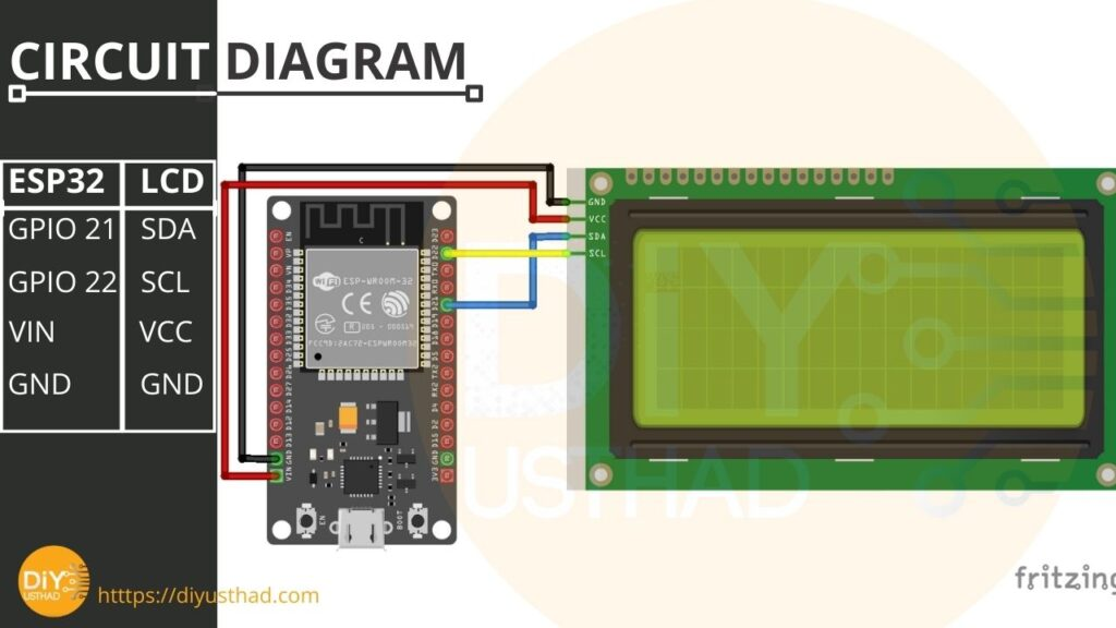 ESP32 with LCD 1602